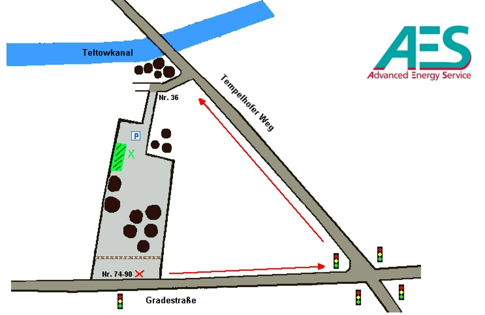 Lageplan AES advanced energy service